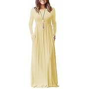 Yming femme robe À manches longues casual...