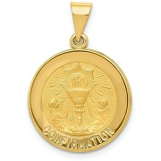 14k jaune or poli finition satin confirmation...