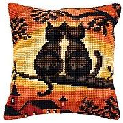 Vervaco kit coussin au point de croix chats sur...