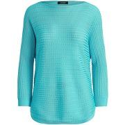 Cable-knit boatneck sweater pullover lauren...