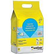 Weber weberjoint hr, 5kg, gris ciment, mortier...