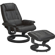 Fauteuil de relaxation cuir noir - excelly n°1...