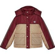 Gucci doudoune colour block à motif gg - tons...
