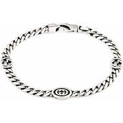 Gucci bracelet à logo gg - argent