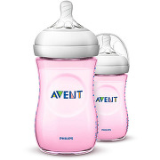 Philips avent naturel bouteille rose 260ml 2pk