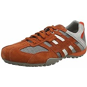 Geox uomo snake e sneakers basses, homme, rouge...