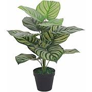 Plante artificielle verte à rayures 60 cm
