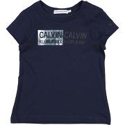 T-shirt calvin klein jeans fille. bleu foncé. 4...