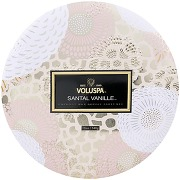 Voluspa japonica bougie 3 meches santal vanille