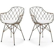 Endora - 2 fauteuils de table en rotin et métal