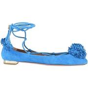 Ballerines aquazzura femme. bleu d'azur. 35...