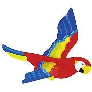 Mobile perroquet oiseau volant en bois goki