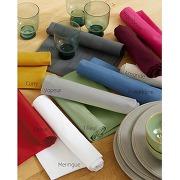 Lot de 6 serviettes blanc 45 x 45 cm - uni