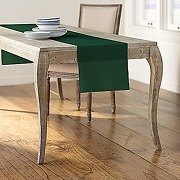 La lin popeline de polyester chemin de table,...