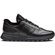 Prada baskets à empiècements contrastants - noir