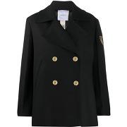 Patou manteau à boutonnière croisée - noir