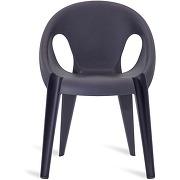 Magis lot de 4 chaises bell - bleu