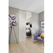 Vantail seul glisseo miroir argent profil gris...