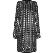 Robe courte michael michael kors femme. noir....