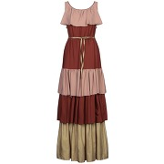 Robe longue manila grace femme. marron. 34...