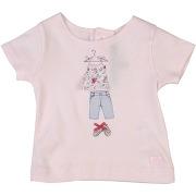 T-shirt lili gaufrette fille. rose clair. 3...
