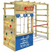 Wickey aire de jeux portique bois smart action...