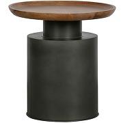 Dua - table basse ronde en bois et métal ø53cm