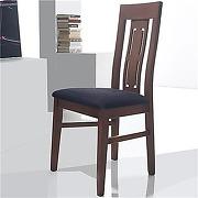 Chaise blanche en bois avec coussin noir adour...