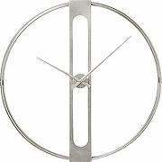 Kare horloge murale clip argenté 60 cm