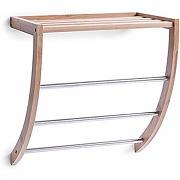 Zeller 13595 porte-serviettes bambou/chromé, 38...