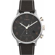 Montre timex tw2t71500 - cuir noir