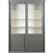 Vince - vaisselier en bois 2 portes coulissantes