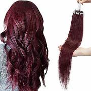 Rajout cheveux naturel extension loops vrai...