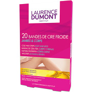 20 bandes de cire froide jambes & corps bandes...