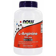 Now foods l-arginine 500mg, 250 capsules by now...