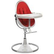 Chaise haute fresco chrome white/rock red bloom