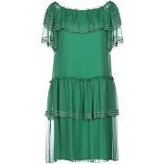 Robe courte alberta ferretti femme. vert...