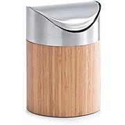 Zeller 25281 poubelle à table bambou ø 12 x 17