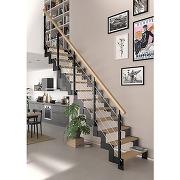 Escalier duplex qt bas métal std marches hêtre...