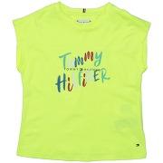 T-shirt tommy hilfiger fille. vert acide. 14...