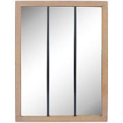 Nell - miroir verrière en métal et bois 113x85cm