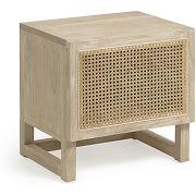 Rexit - table de chevet en bois et rotin