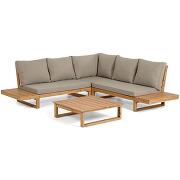 Flaviina - salon de jardin 1 canapé d'angle et...