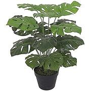 Plante artificielle en pot noir 60 cm monstera