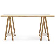 Highbury - bureau à tréteaux blanc et bois