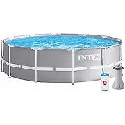 Intex kit piscine prism frame ronde 3.66 x 0.99 m