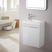 Meuble lave-mains design couleur blanc avec...