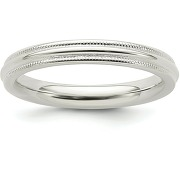 Argent sterling demi rond confortable 3mm...