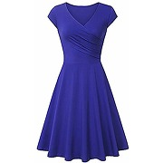 Yming womens sexy cocktail dress v neck party...