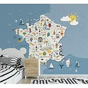 Papier peint panoramique graphique frenchy